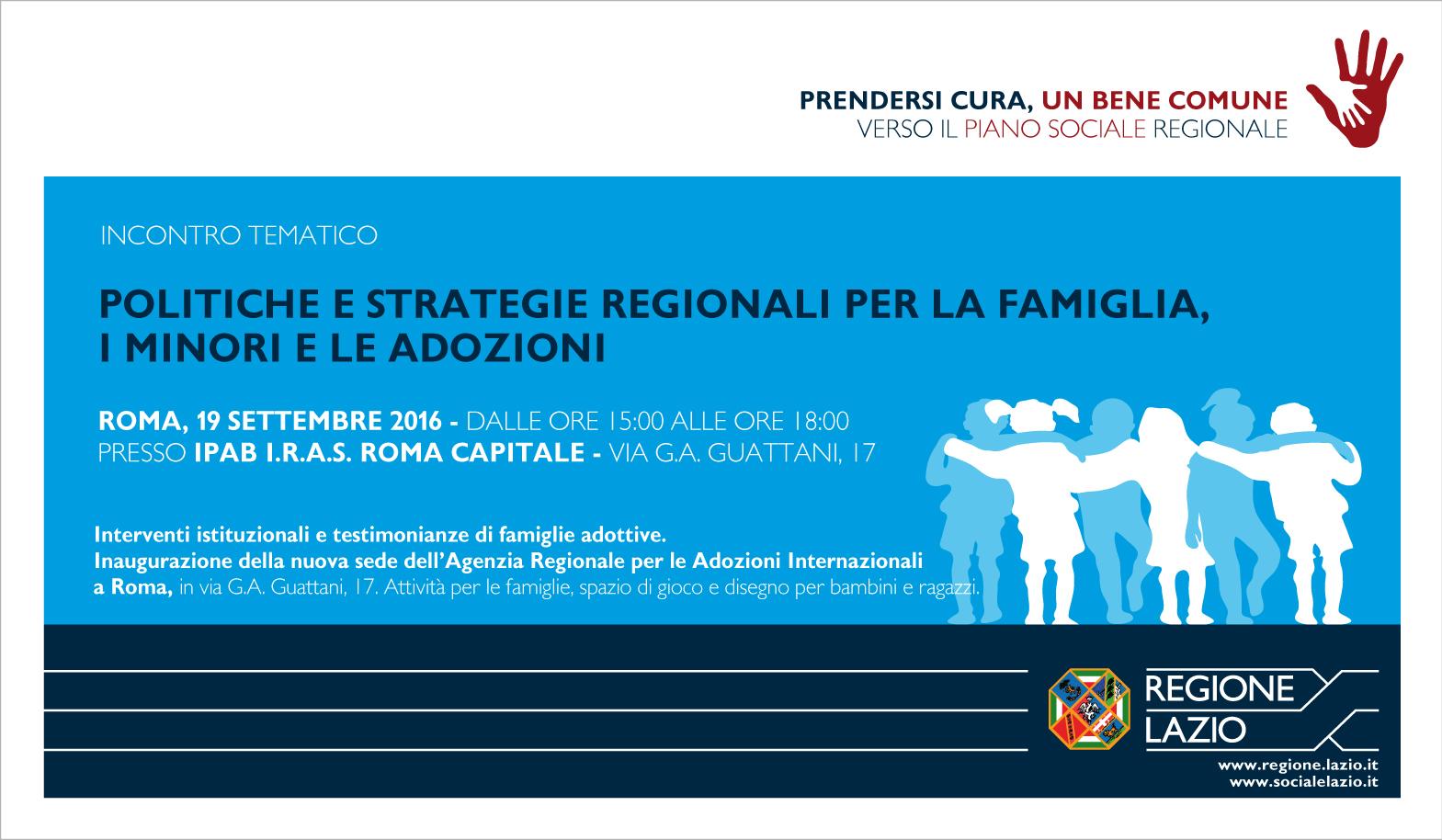 Piano sociale regionale Lazio - Tavolo famiglia e minori