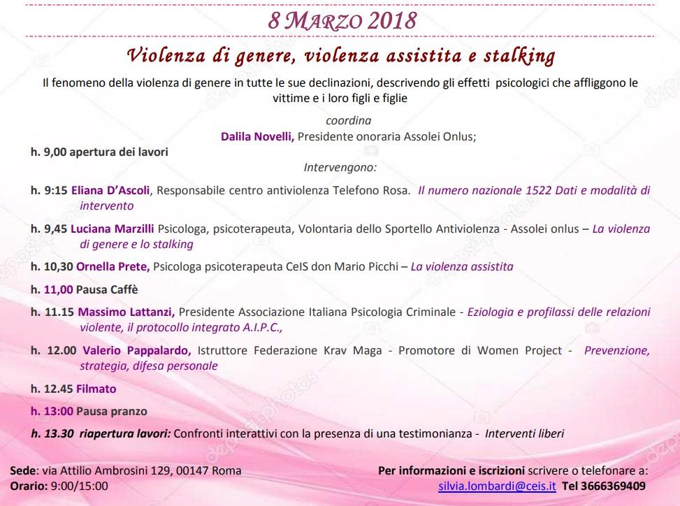 Il seminario dell'8 marzo